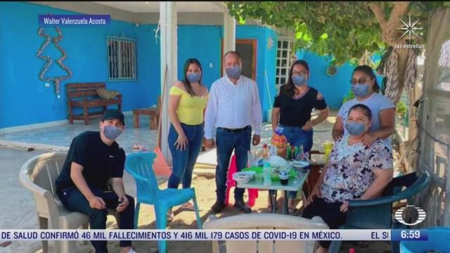 alcalde difunde imagenes con cubrebocas falsos