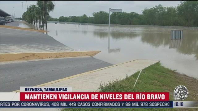 alerta por posible desbordamiento del rio bravo