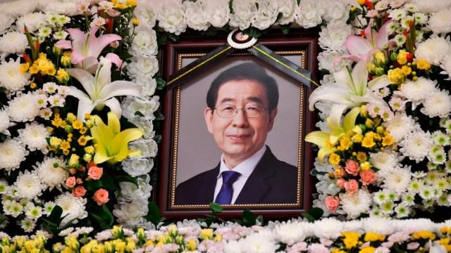 Altar al fallecido alcalde de Seúl, Park Won-soon