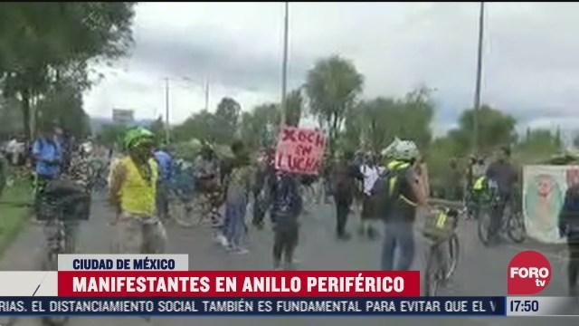 ambientalistas protestan por construccion de puente en cdmx