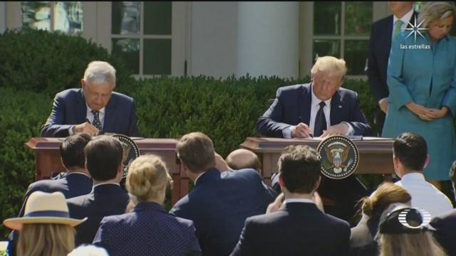 amlo y trump firman declaracion conjunta sobre beneficios del t mec