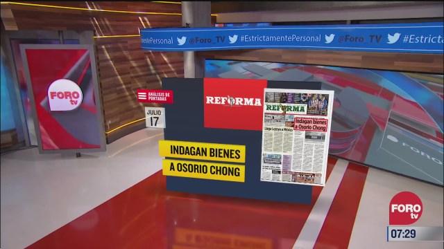 analisis de las portadas nacionales e internacionales del 17 de julio del
