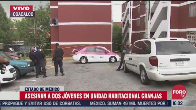 asesinan a dos jovenes en coacalco estado de mexico