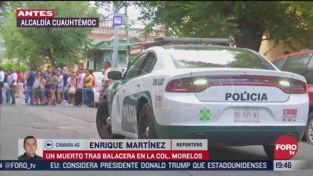 Balacera deja un muerto y un herido en la colonia Morelos