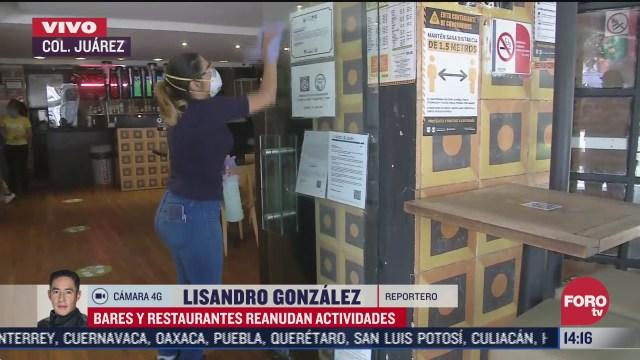 FOTO: 5 de julio 2020, bares y restaurantes reanudan actividades en la zona rosa