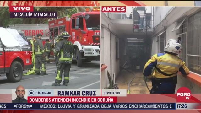 bomberos de cdmx atienden incendio en iztacalco