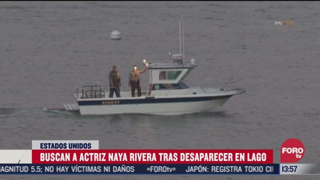 buscan a actriz naya rivera tras desaparecer en un lago en california