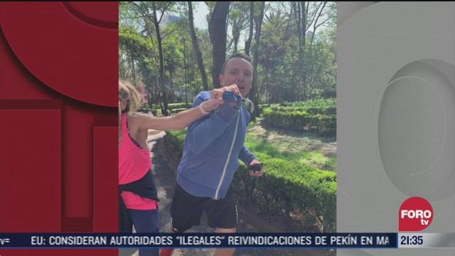 corredor golpeador de mujeres en Parque Hundido