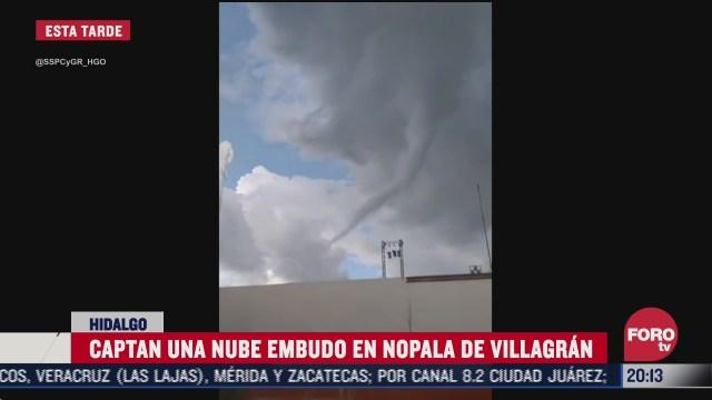 formacion de tornado en hidalgo