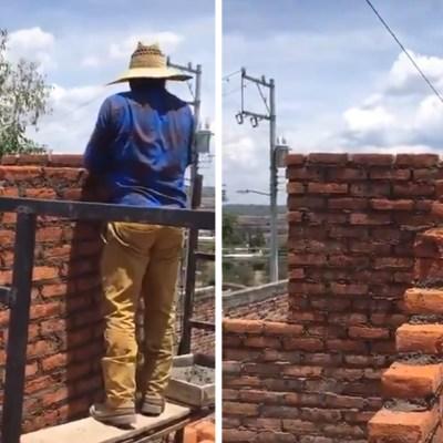 Video: Albañiles se hacen virales en redes sociales al olvidar ponerle puerta a una habitación