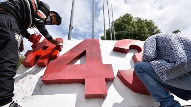 Colocan Antimonumento por el caso de los 43 normalistas de Ayotzinapa