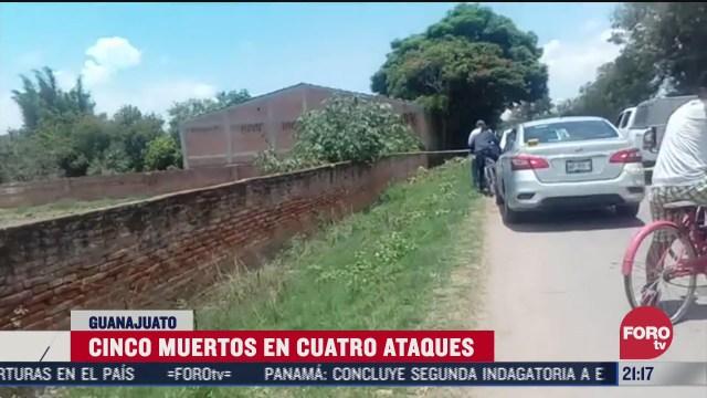 FOTO: 7 de julio 2020, cinco muertos por ataques armados en guanajuato