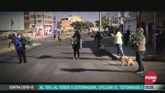 ciudadanos protestan en bolivia contra aislamiento por covid