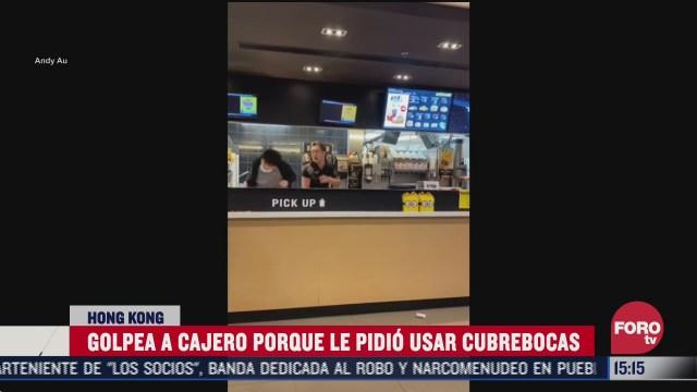 cliente golpea a cajero de restaurante por pedirle que use cubrebocas