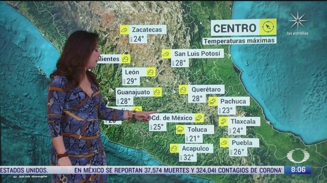 clima al aire cdmx tendra lluvias y una temperatura maxima de 26 grados centigrados