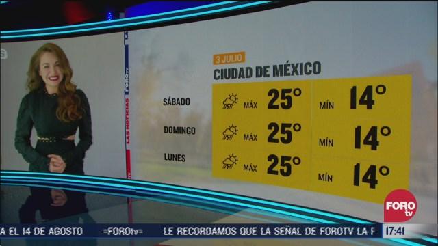 clima de la tarde del 3 de julio de 2020 con mayte carranco