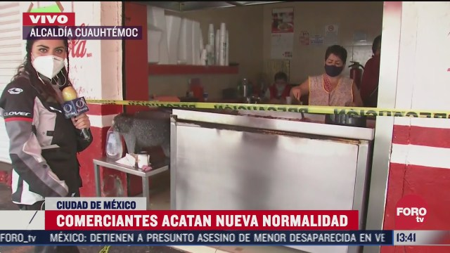 comerciantes acatan medidas sanitarias ante coronavirus en cdmx