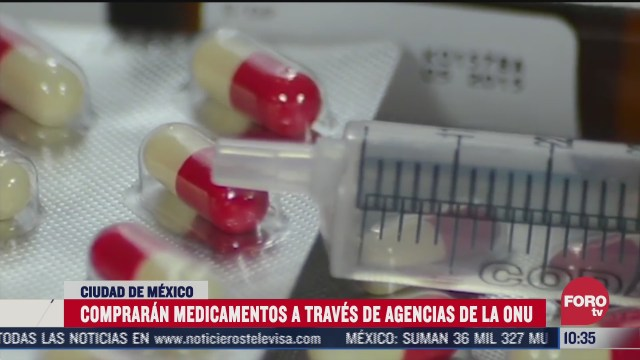 compraran medicamentos a traves de agencias de la onu