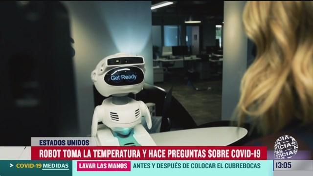 crean robot que refuerza medidas de seguridad contra covid 19 en el trabajo