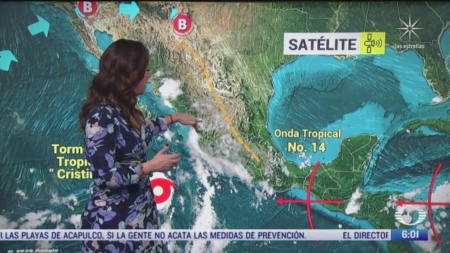 cristina podria ser huracan categoria 1 al sur de la peninsula de baja california