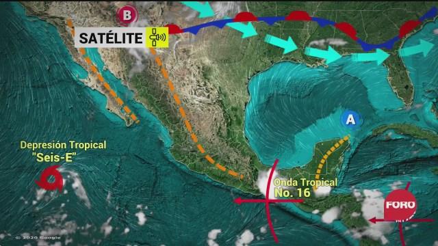 depresion tropical seis e se aleja de costas mexicanas