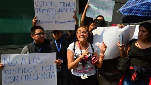 Trabajadores de empresas privadas se manifiestan por los despidos generados por la contingencia del coronavirus. (Foto: Cuartoscuro)