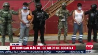 detienen a dos personas con mas de 100 kilos de cocaina en manzanillo
