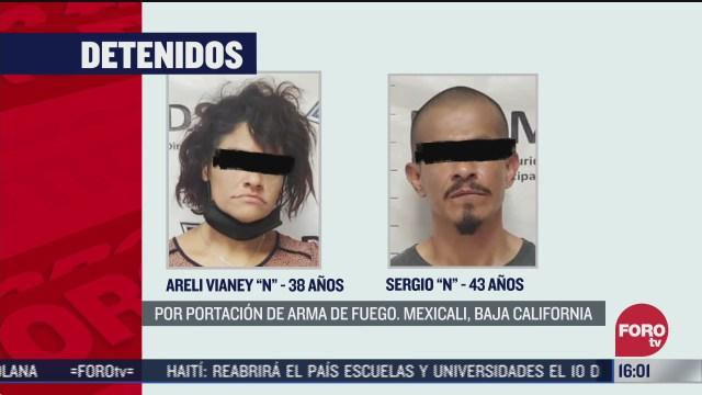 FOTO: 5 de julio 2020, detienen a dos personas en mexicali por portacion de arma de fuego