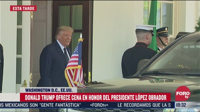 donald trump ofrece cena en honor de amlo