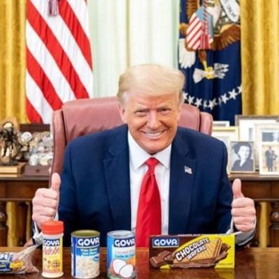 """Trump promociona productos Goya en medio del """"boicot"""" a la marca"""