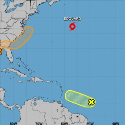 Tormenta tropical Edouard se forma sobre el Atlántico norte; rompe récord de 2005