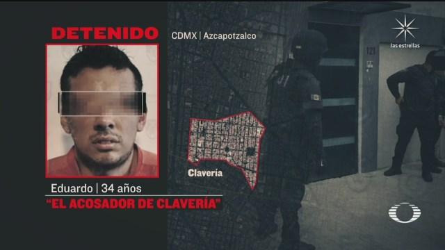 El acosador de Clavería fue detenido en Azcapotzalco, cDMX