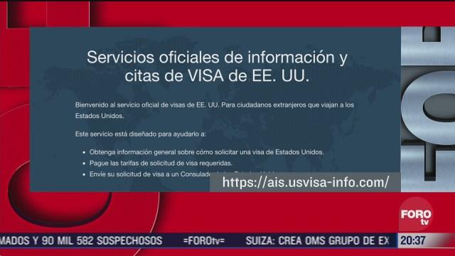 La Embajada de Estados Unidos en México anunció que la próxima semana comenzarán las entrevistas para estudiantes mexicanos para tramitar visas