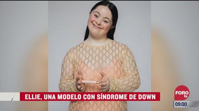 ellie una modelo con sindrome de down
