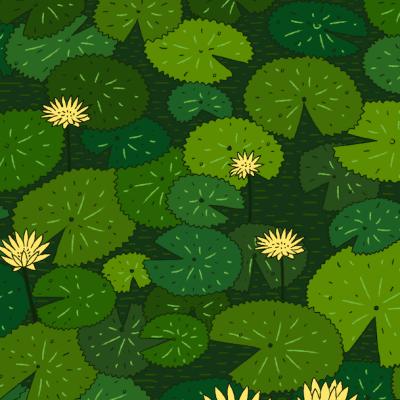 ¿Puedes encontrar los 5 animales en el estanque?