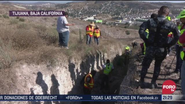 fosa clandestina en baja california con 12 cuerpos