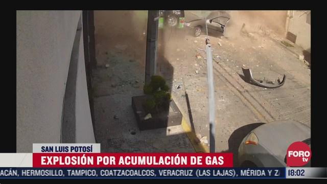 explosion por acumulacion de gas deja una mujer lesionada en slp