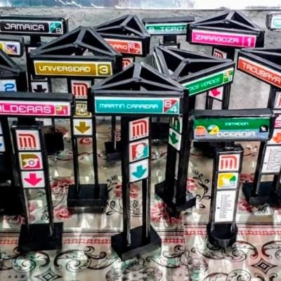 Conoce las figuras miniatura de las estelas del Metro de la CDMX