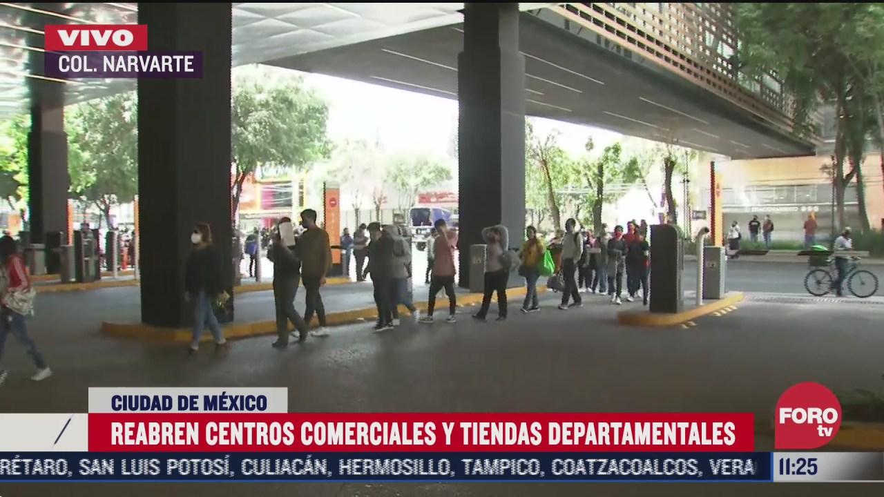 filas kilometricas para entrar a plazas comerciales en cdmx