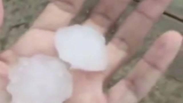 Granizo del tamaño de una pelota de golf azota Nayarit