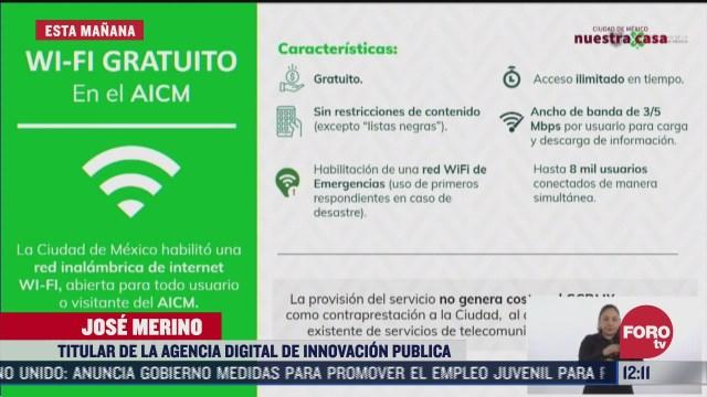 habilitan red de internet gratuito en el aicm
