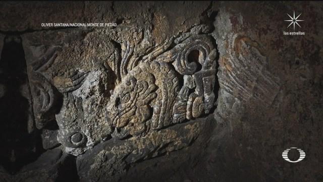 restos del Palacio de Axayácatl bajo edificio del Monte de Piedad en CDMX