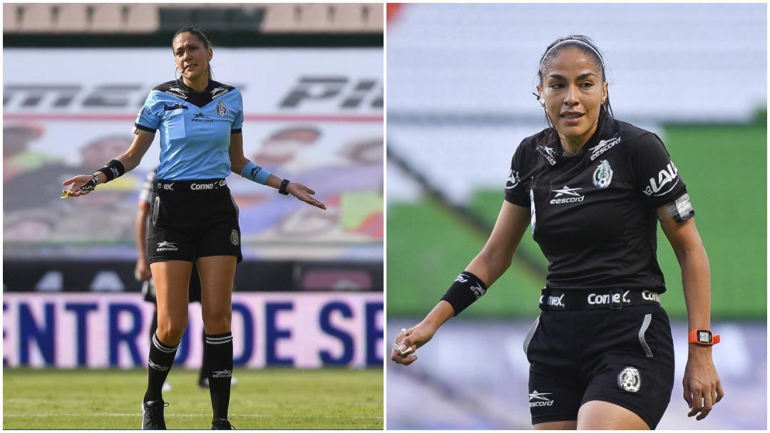 Las hermanas árbitro Dianas y Priscila Pérez dirigieron partidos de pretemporada de equipos varoniles