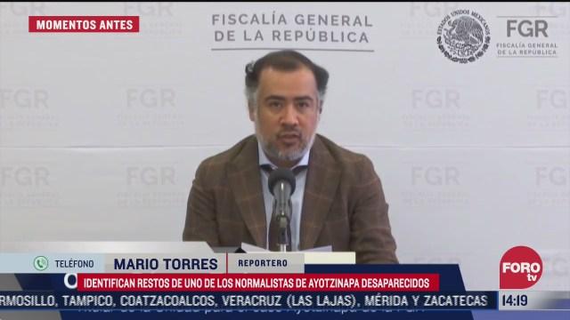 identifican restos de uno de los normalistas desaparecidos de ayotzinapa