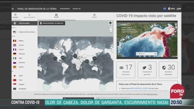 agencias espaciales registran impactos ambientales del confinamiento por la pandemia de coronavirus