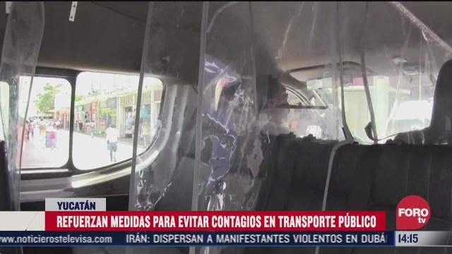 instalan acrilicos en transporte publico de yucatan para evitar covid