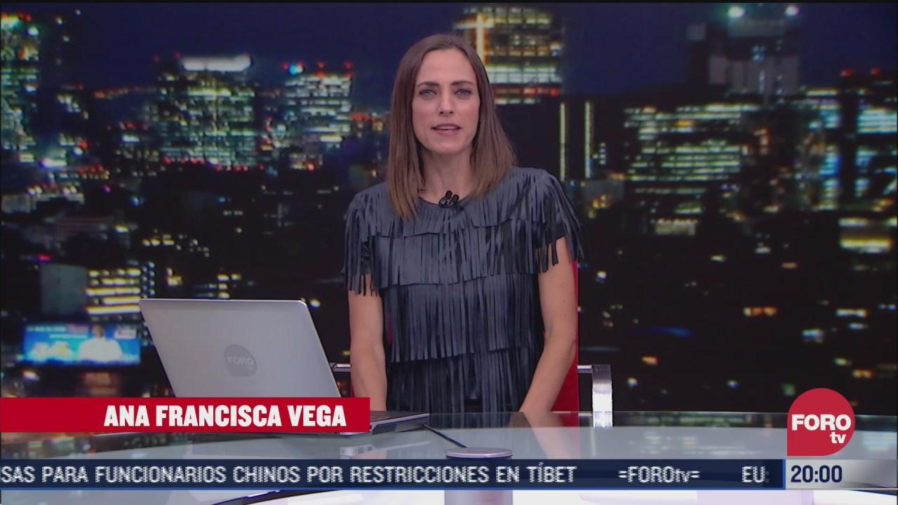 FOTO: 7 de julio 2020, las noticias con ana francisca vega programa del 7 de julio de