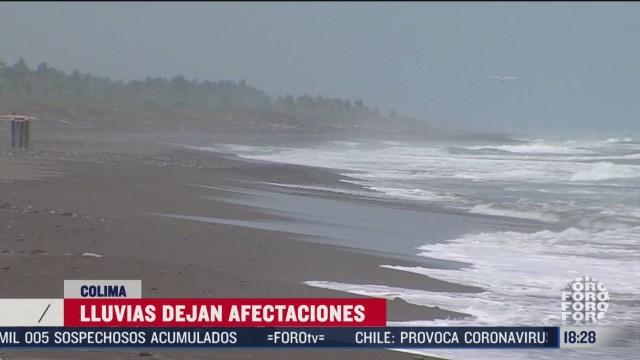 lluvias provocan afectaciones en colima