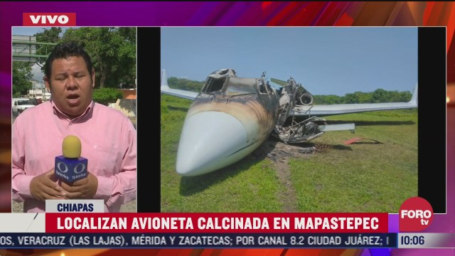 FOTO: 4 de julio 2020, localizan avioneta calcinada en mapastepec chiapas