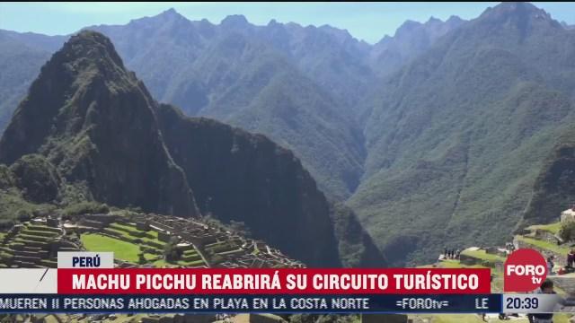 Machu Picchu se alista para la reapertura al turismo tras la pandemia de coronavirus